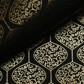 Papier indien pendule doré sur noir