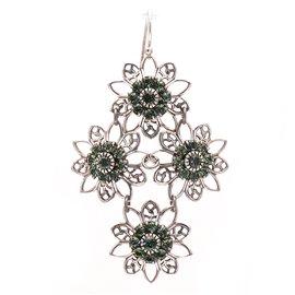 Boucles d'oreilles pendantes percées vert Kenny Ma designs -