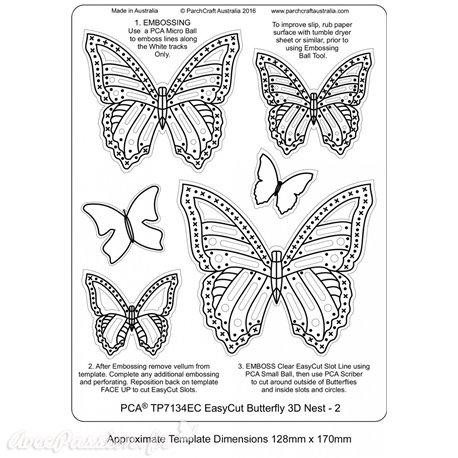 Gabarit easycut PCA coupe le papier parchemin papillon 3D nest 2