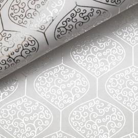 Papier indien pendule argent sur blanc
