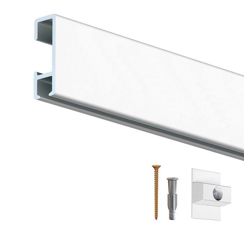 rail cimaise d 39 encadrement perlon blanc achat vente. Black Bedroom Furniture Sets. Home Design Ideas