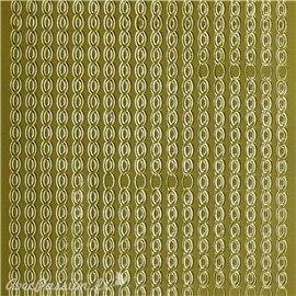 Sticker peel off adhésif argent lignes déco ovales