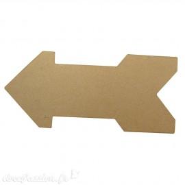 Objet brut flèche papier maché marron