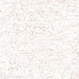 Feuilles décopatch petit craquelé blanc or