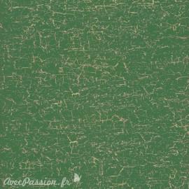 Feuilles décopatch petit craquelé vert