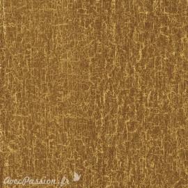 Feuilles décopatch petit craquelé marron et doré