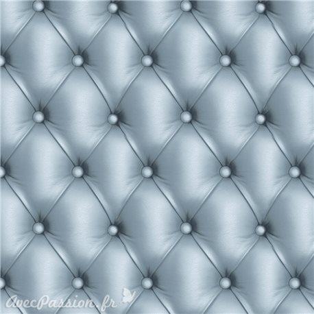 Feuille décopatch 30x40cm capitonné cuir gris