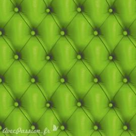 Feuilles décopatch capitonné vert