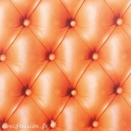 Feuilles décopatch motifs capitonné orange