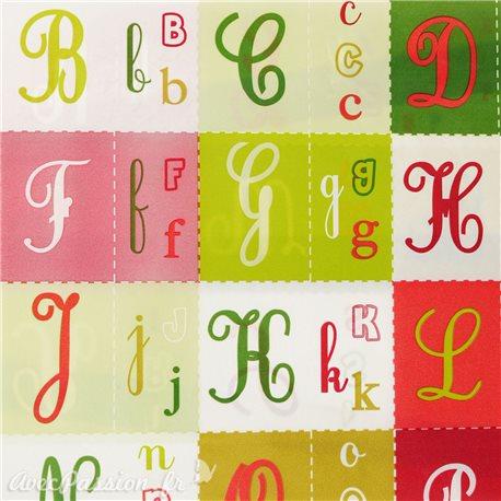 Feuilles décopatch motifs alphabet tons de noël