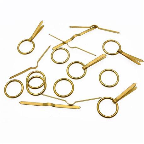 Attaches anneaux et lacets grands 16mm pour cartons encadrement x10