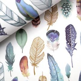 Papier italien motifs plumes