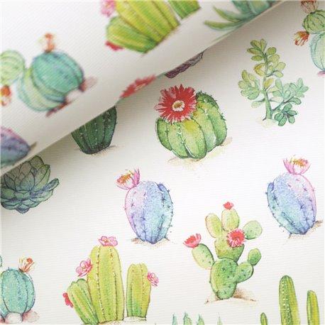 Papier italien motifs cactus