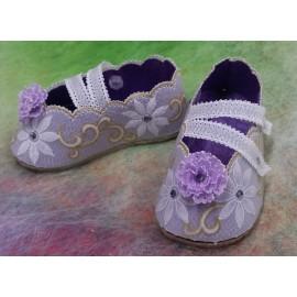 Matériel pour chaussures dahlia du livre Delightful Gifts d'Amanda Yeh