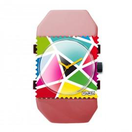 Montre Stamps bracelet de montre belta Y vieux rose élastique