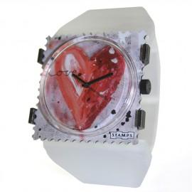 Montre Stamps bracelet de montre belta Y blanc perle élastique
