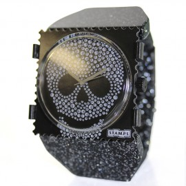 Bracelet élastique de montre Stamps belta Y argent pailleté