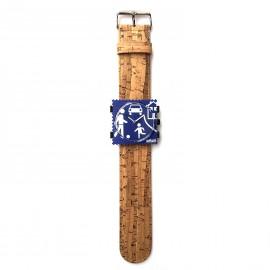 Bracelet de montre Stamps marron en écorce de bambou