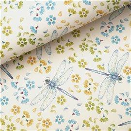 Papier tassotti à motifs libellule