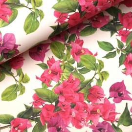 Papier tassotti à motifs fleurs de bougainvilliers