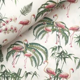Papier tassotti à motifs flamand rose