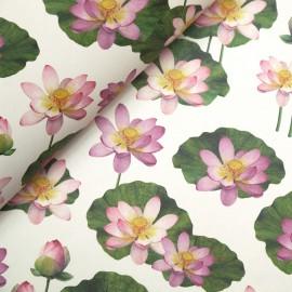 Papier tassotti à motifs nénuphar