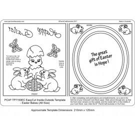Gabarit easycut PCA coupe le papier parchemin paques cadre ovale