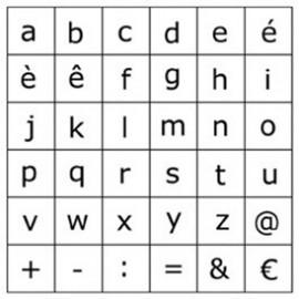 Tampon bois 30 alphabet minuscules