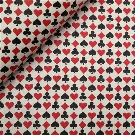 Papier tassotti à motifs carte à jouer