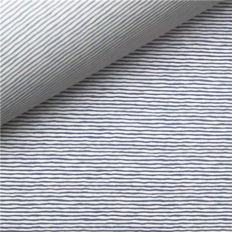 Papier tassotti à motifs recto verso rayures bleu et azur