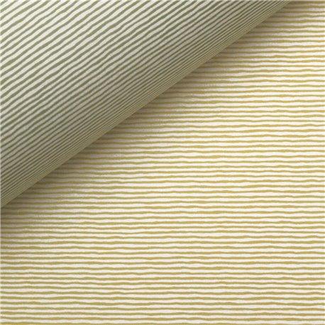 Papier tassotti à motifs recto verso rayures vert et jaune