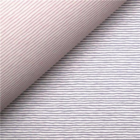 Papier tassotti à motifs recto verso rayures violet et rose
