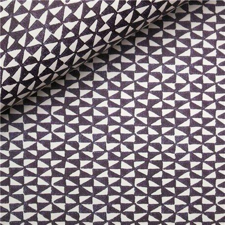 Papier tassotti à motifs triangles noir et blanc