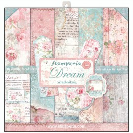 Papier scrapbooking assortiment dream 10f recto verso