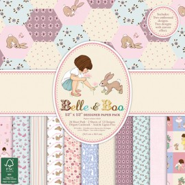 Papier scrapbooking assortiment Belle & Boo 24fe