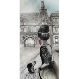 Carte d'art Valie Le Boeuf Le Louvre