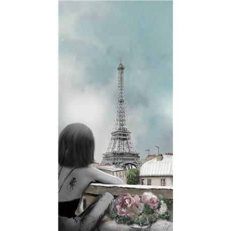 Carte d'art Valie Le Boeuf Tour Eiffel