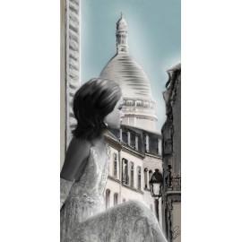 Carte d'art Valie Le Boeuf Montmartre