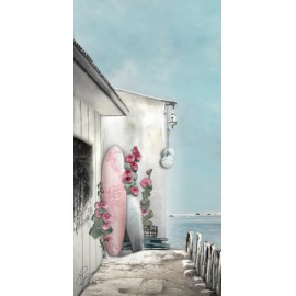 Carte d'art Valie Le Boeuf Romance Marine 14x28 cm