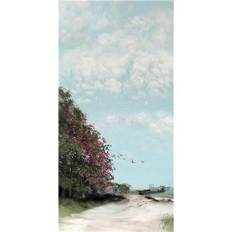 Carte d'art Valie Le Boeuf l'échappée belle 14x28 cm