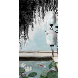 Carte d'art Valie Le Boeuf soleil levant 14x28 cm