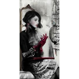 Carte d'art Valie Le Boeuf Appoline 14x28 cm