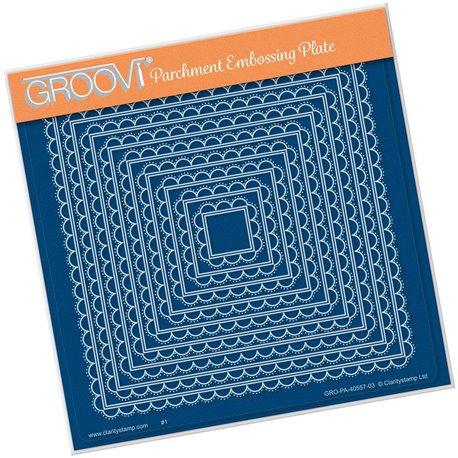 Gabarit tracage du parchemin carrés demi cercle Groovi