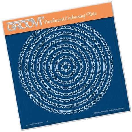 Gabarit tracage du parchemin cercle demi cercle Groovi