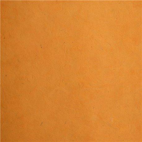 Papier népalais lokta lamaLi orange bouton d'or
