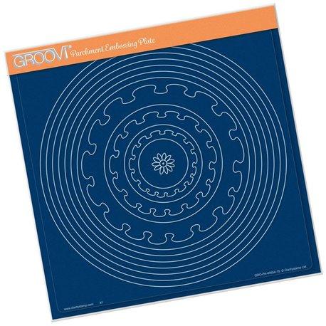 Gabarit tracage du parchemin cercles et cercles crantés Groovi