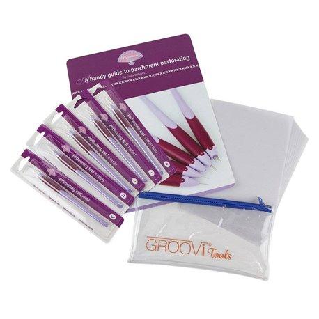 Pergamano kit outil à perforer 5 outils + 20 feuilles parchemin - notice