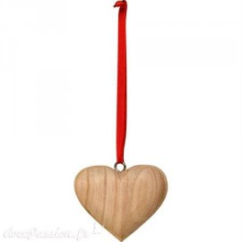 Objet décoration shabby chic déco à suspendre cœur bois