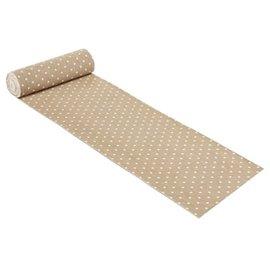 Tissu décoratif Creapop lin pois blanc 2 mètres