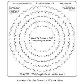Gabarit easycut PCA coupe le papier parchemin cercle dentelé 1